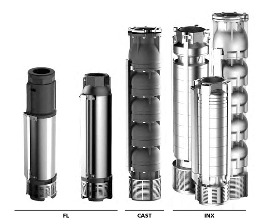 """Погружной многоступенчатый насос SE6 FL 16-36-6"""" ESPA"""