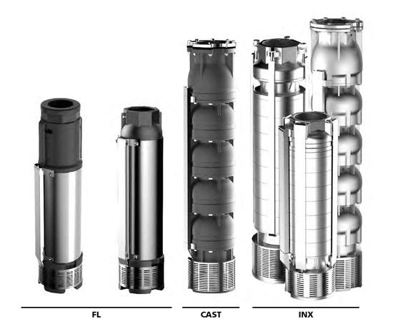 """Погружной многоступенчатый насос SE6 INX 54-7-6"""" ESPA"""