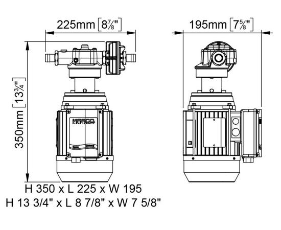 UP-14 220В размеры