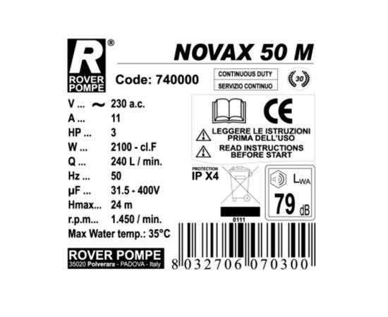 Насос NOVAX 50M Rover Pompe характеристики