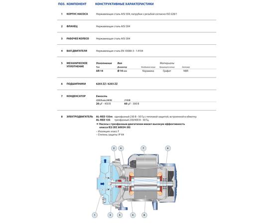 Технические характеристики AL-RED 135m