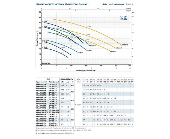 Рабочие характеристики CP 200-ST6