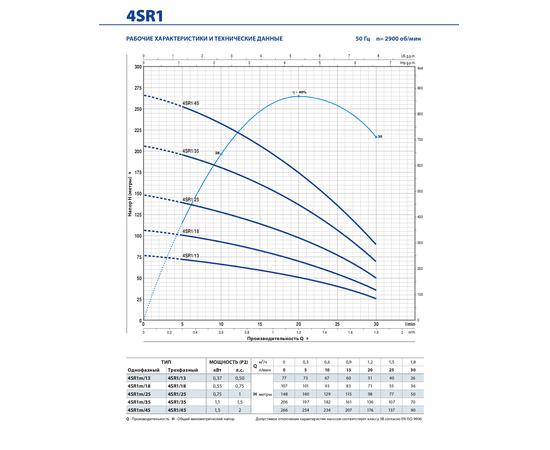 Рабочие характеристики 4SR1 Pedrollo