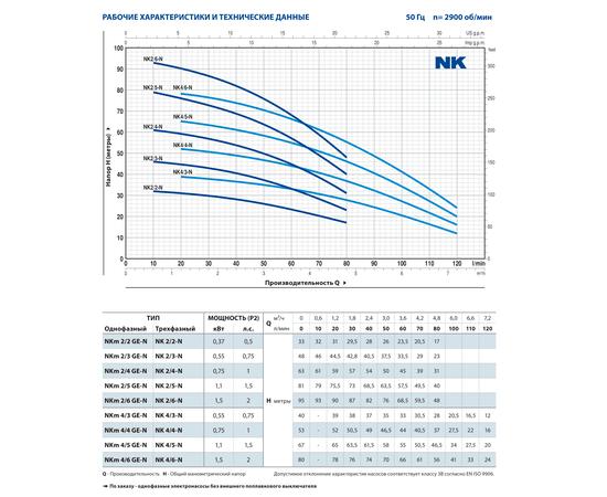 Технические характеристики NK Pedrollo