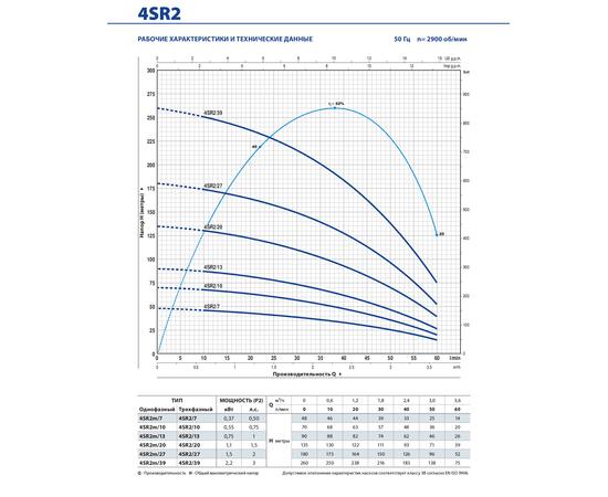 Рабочие характеристики 4SR2 Pedrollo